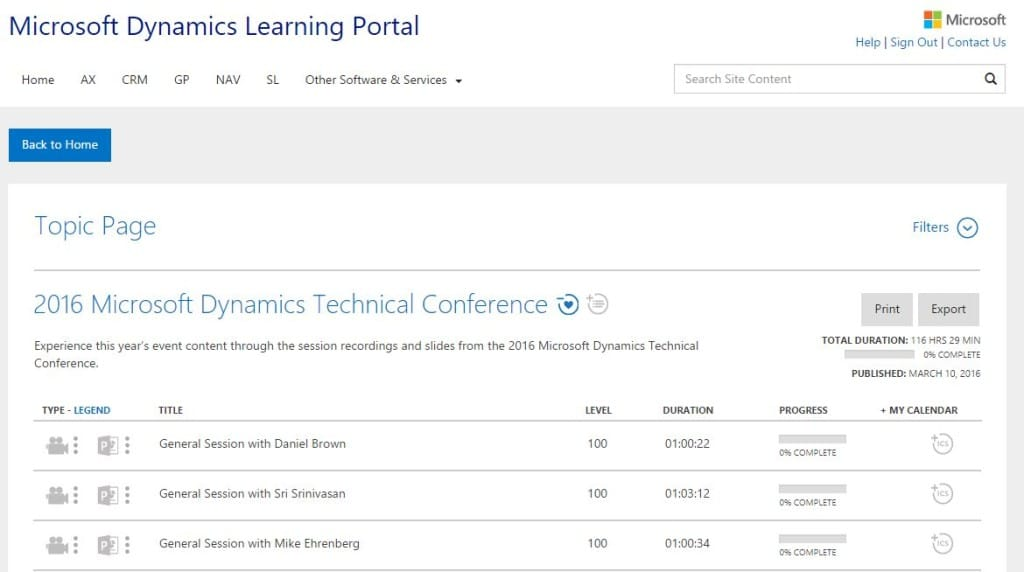 Technical-conference-dynamics-learning-portal