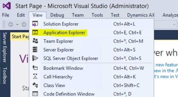 01 - Application explorer