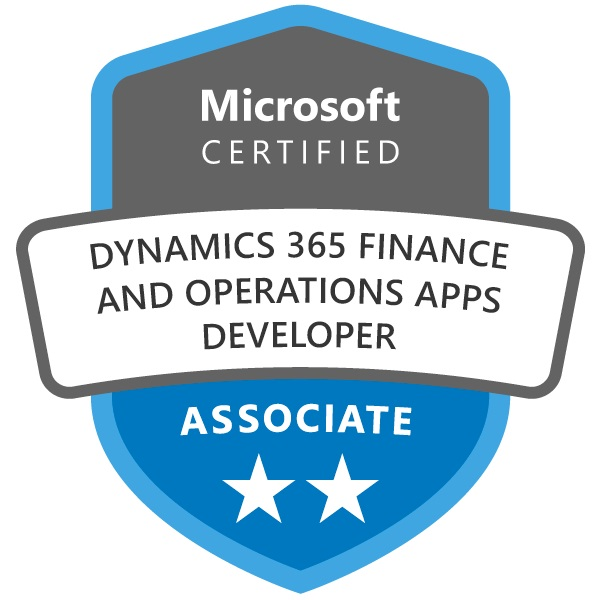 Microsoft Certified Dynamics 365 Finance and Operations Developer Associate