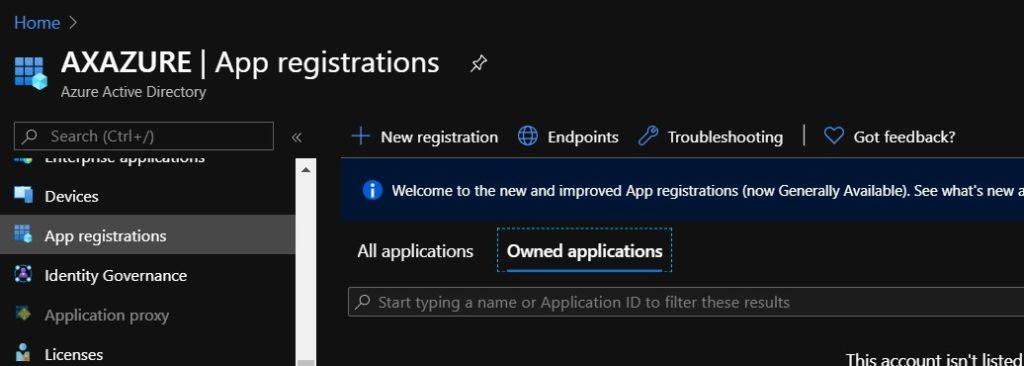 Crear registro de aplicaciones de Azure Active Directory