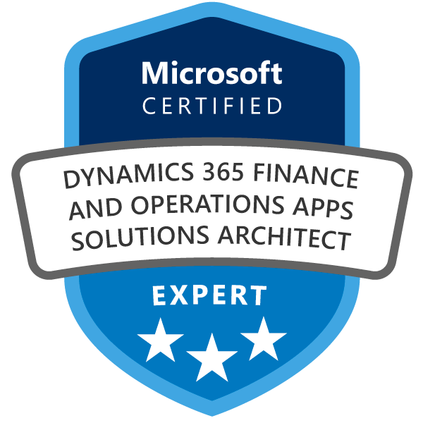 Microsoft Certified Dynamics 365 Finance and Operations Apps Solutions Architect Expert