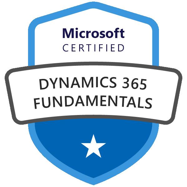 Microsoft Certified Dynamics 365 Fundamentals