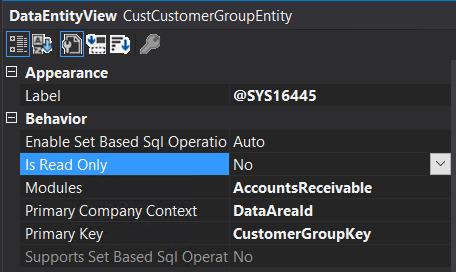 Visual Studio properties - Is Read Only = No